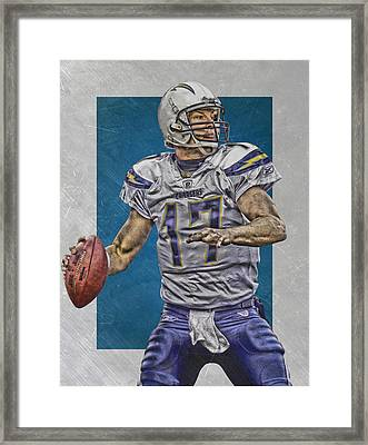 Philip Rivers San Diego Chargers Art Framed Print by Joe Hamilton