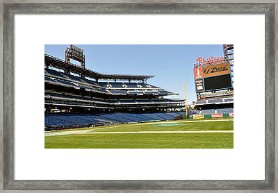 Phillies Stadium Framed Print by Brynn Ditsche