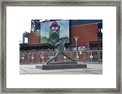 Phillies Steve Carlton Statue Framed Print by Bill Cannon
