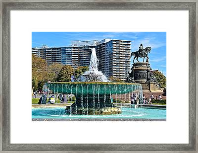 Philly Art Museum Framed Print by Frozen in Time Fine Art Photography