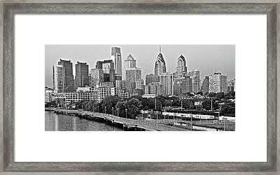 Philly Gray And White Framed Print by Frozen in Time Fine Art Photography