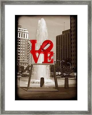 Philly Love Framed Print by Skip Willits