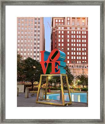 Philly Love Framed Print by Skyline Photos of America