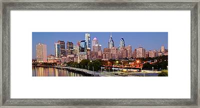 Philly Panoramic Framed Print by Frozen in Time Fine Art Photography