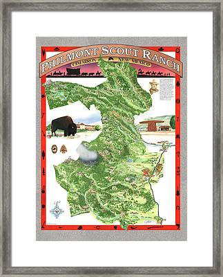 Philmont Scout Ranch Poster Art Framed Print by Philippe Plouchart