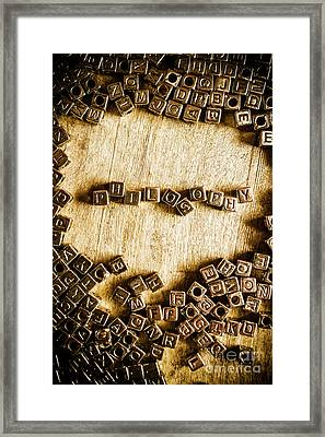Philosophy In Metal Cubes Framed Print by Jorgo Photography - Wall Art Gallery