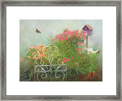 Phlox Of Late Summer Framed Print by Nancy Lee Moran