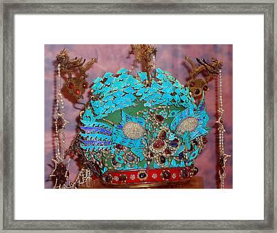 Phoenix Crown Framed Print by Jean Hall