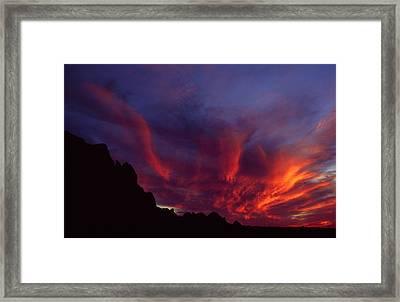 Phoenix Risen Framed Print by Randy Oberg