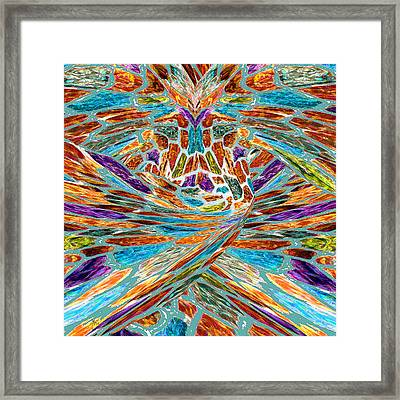 Phoenix Rising Abstract Expressionism Framed Print by Michele Avanti