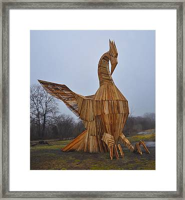 Phoenix Rising Framed Print by Bill Cannon