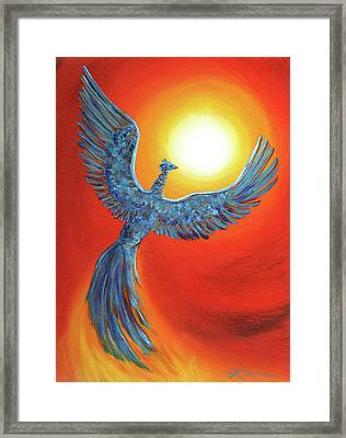 Phoenix Rising Framed Print by Laura Iverson