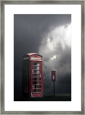 Phone Box With Letter Box Framed Print by Joana Kruse