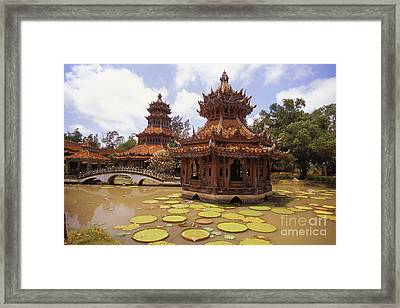 Phra Kaew Pavillion Framed Print by Bill Brennan - Printscapes