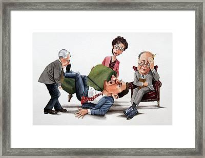 Phychiatry Issues Framed Print by Denny Bond