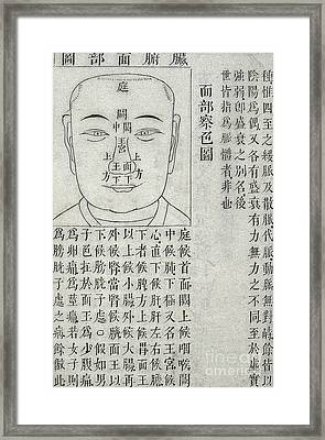 Physiognomy Diagnosis Chart, 1817 Framed Print by Wellcome Images