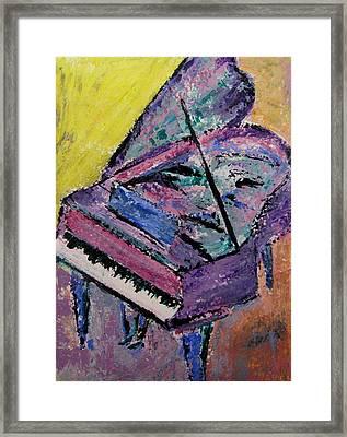 Piano Pink Framed Print by Anita Burgermeister