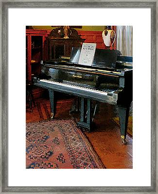 Piano With Sheet Music Framed Print by Susan Savad