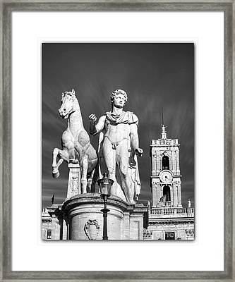 Piazza Del Quirinale In Rome Framed Print by Stefano Senise