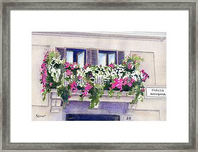 Piazza Navona Framed Print by Marsha Elliott