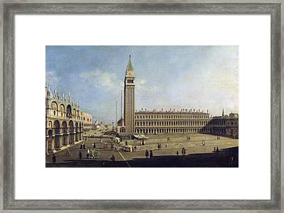 Piazza San Marco Venice  Framed Print by Canaletto
