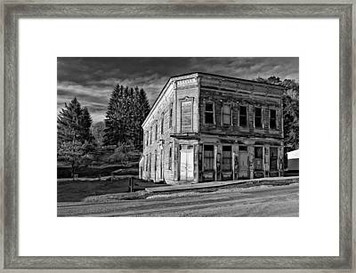 Pickens Wv Monochrome Framed Print by Steve Harrington