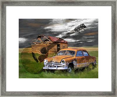 Pickin Out Yesterday Framed Print by Susan Kinney