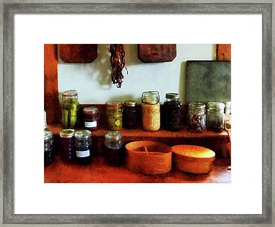 Pickles Beans And Jellies Framed Print by Susan Savad