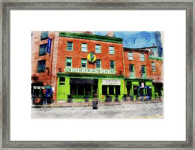 Pickles Pub Sports Bar Across From Oriole Park  Framed Print by Chet Dembeck