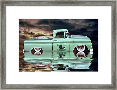 Pickup Reflections Framed Print by Steven Agius