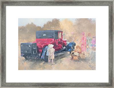 Picnic In The Twenties Framed Print by Peter Miller