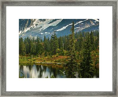 Picture Lake Vista Framed Print by Mike Reid