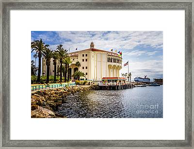 Picture Of Avalon Casino On Catalina Island  Framed Print by Paul Velgos