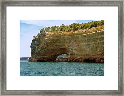 Pictured Rocks Arch Framed Print by Michael Peychich