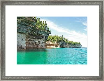 Pictured Rocks Framed Print by Michael Peychich