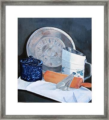Pie Baking Framed Print by Paula Pagliughi