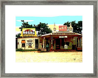 Pie Town Cafe And Bar Framed Print by Charles Shoup