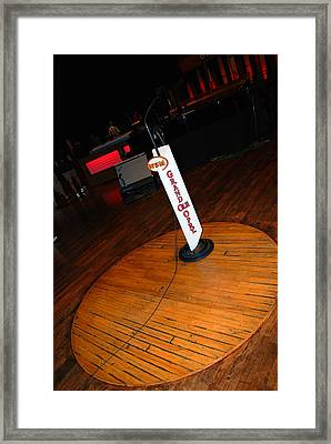 Piece Of The Original Old Stage At The Grand Ole Opry In Nashville Framed Print by Susanne Van Hulst