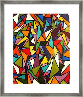 Pieces Framed Print by Kerry Bennett