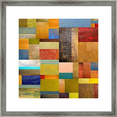 Pieces Project Lll Framed Print by Michelle Calkins