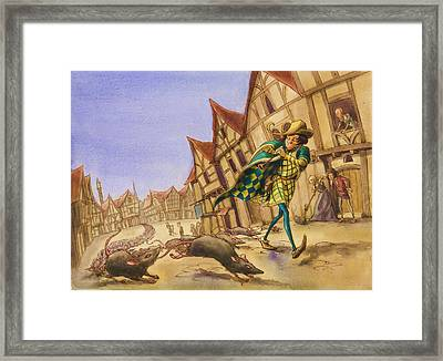 Pied Piper Rats Framed Print by Andy Catling