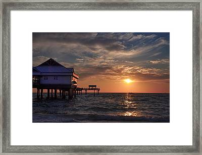Pier 60 Clearwater Florida At Sunset Framed Print by Bill Cannon