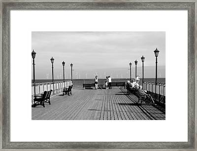 Pier End View At Skegness Framed Print by Rod Johnson