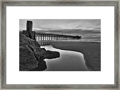 Pier Reflections Framed Print by Ginny Horton