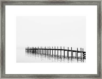 Pier Framed Print by Skip Nall