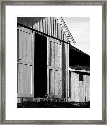 Pierce Point Ranch 16 . Bw Framed Print by Wingsdomain Art and Photography