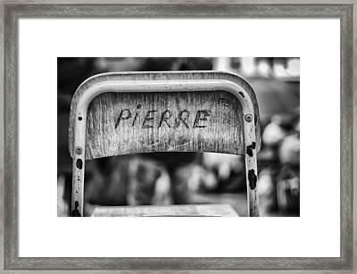 Pierre Framed Print by Pablo Lopez