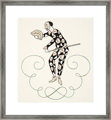 Pierrot Framed Print by Georges Barbier