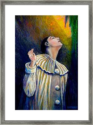 Pierrot's Peering Into The Light Framed Print by Michael Durst