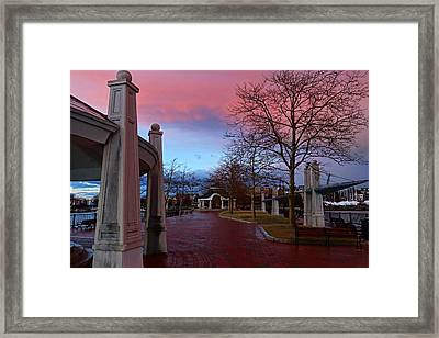 Piers Park Sunset East Boston Ma Framed Print by Toby McGuire